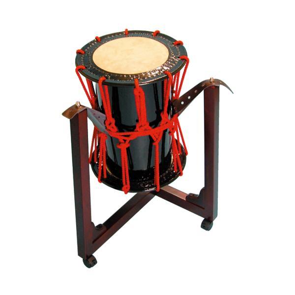 桶胴太鼓1.2尺(赤紐) 三柱台座セット 送料無料