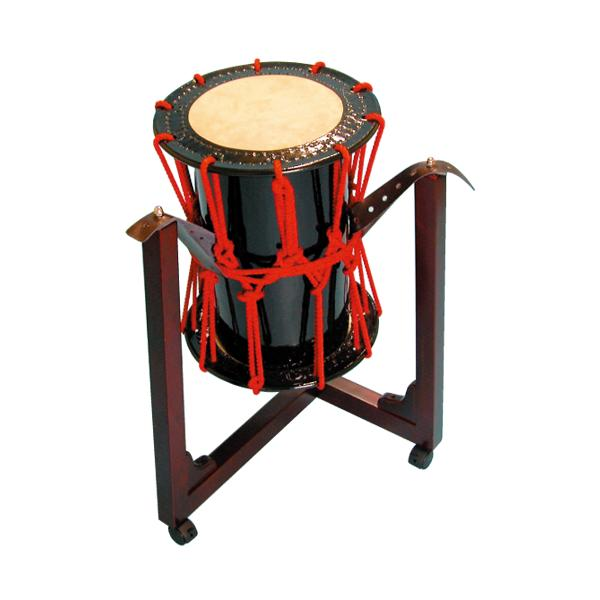桶胴太鼓1.2尺(赤紐) 三柱台座セット