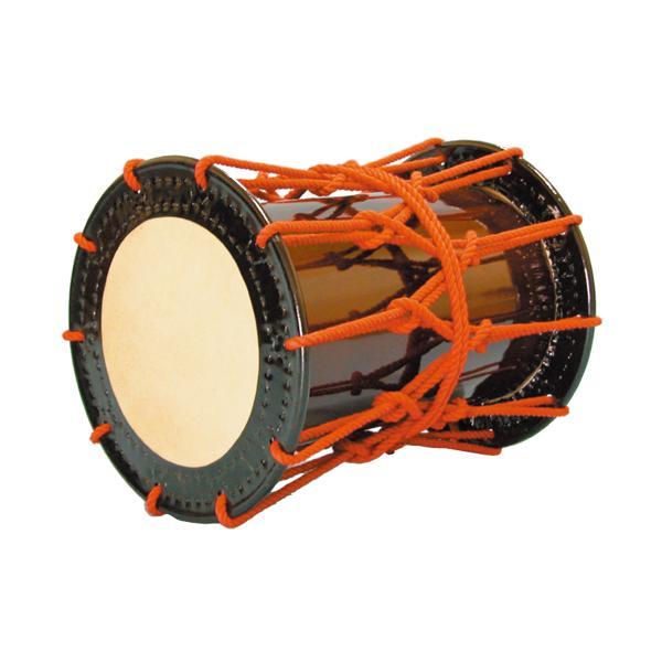 かつぎ桶胴太鼓1.2尺(赤紐・茶色胴)