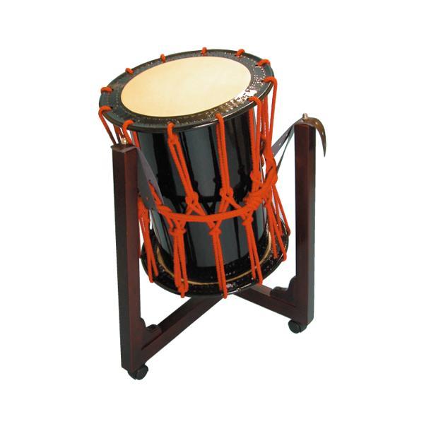 桶胴太鼓1.4尺(赤紐)三柱台座セット 送料無料