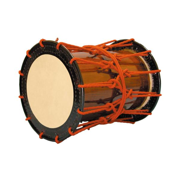 かつぎ桶胴太鼓1.4尺(赤紐・茶色胴) 送料無料