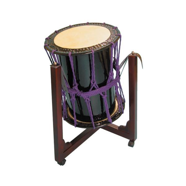 桶胴太鼓1.4尺(紫紐)三柱台座セット 送料無料