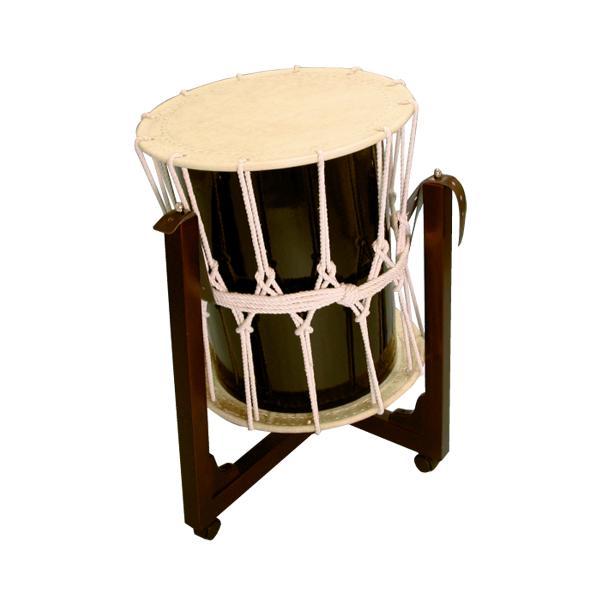 桶胴太鼓1.6尺(白紐)三柱台座セット 送料無料