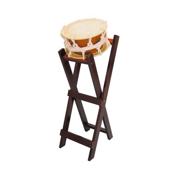 締太鼓30cm(ひも締め・くりぬき胴) 立台座セット 送料無料