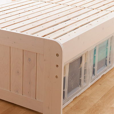 送料無料 天然木パイン材棚付きすのこベッド TF-2004A-SDセミダブルサイズ(インテリア/寝具/ベッド/すのこ/ファブリック/新生活/快適/一人暮らし/お祝い/ギフト/プレゼント/贈り物/通販/) RCP