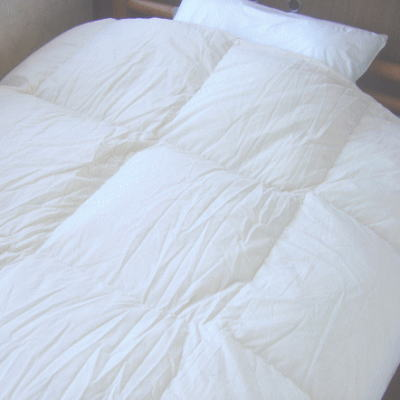 再生羽毛グリーンダウン使用羽毛布団 シングルロングサイズ 150×210cmTTC生地 無地キナリ日本製 送料無料 あす楽対応