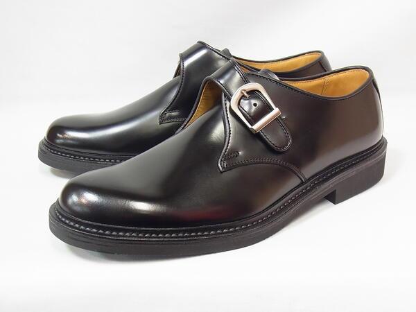 リーガル 正規品 モンクストラップ REGAL JU16 AG BLK ブラック 2E メンズ ビジネスシューズ 人気 日本製 紳士靴
