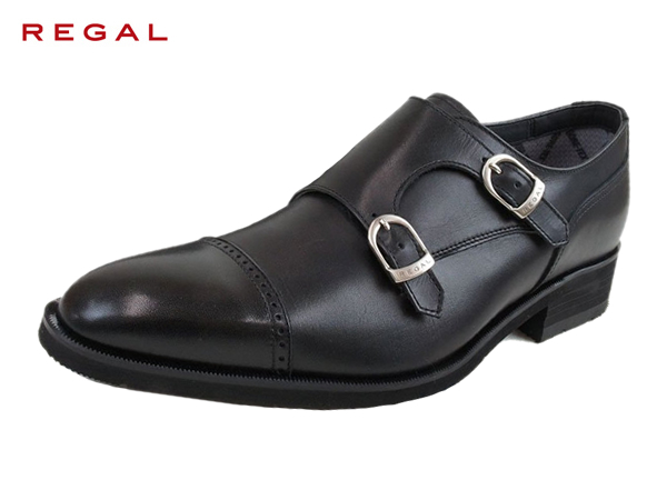 リーガル 正規品 ゴアテックス REGAL 37HR BB BLK ブラック ダブルモンクメンズ ビジネスシューズ 防水 紳士靴