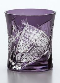 東洋佐々木ガラス グラス 切子 八千代切子・焼酎 手づくり タンブラー 扇柄 280ml コップ ギフト