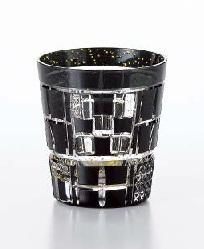 グラス 手づくり 八千代切子 墨色 オンザロック たこうのくみ ウイスキーコップ 255ml ギフト