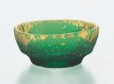 鉢 のぞき 緑溜 手造り 金箔鉢 6個入セット はち