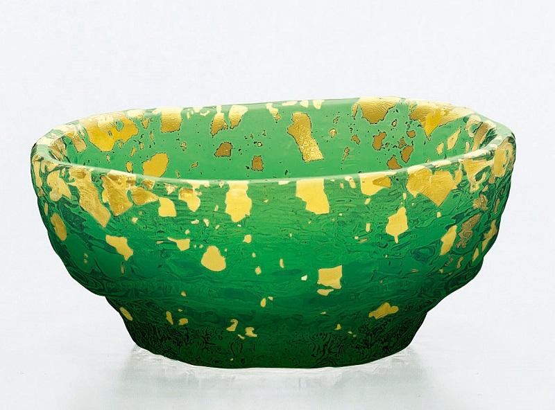 鉢 緑溜 金箔鉢 手造り 6個入り 小鉢