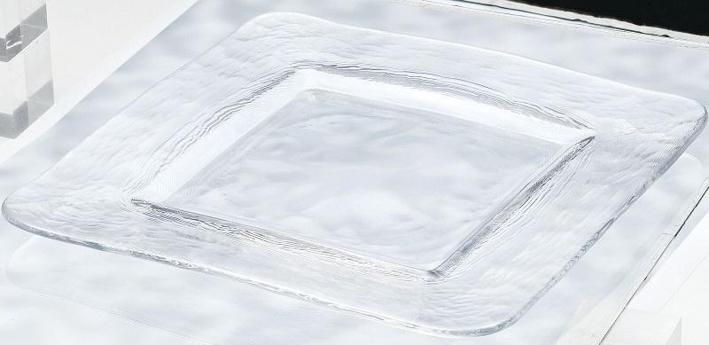プロユース 業務用 信憑 家使い 東洋佐々木ガラスのメニューにアクセントを添えるスクエアタイプのプレート 定番キャンバス お皿 です 送料無料 スクエアプレート280 2枚入 オービット ガラス 角皿 皿 東洋佐々木ガラス