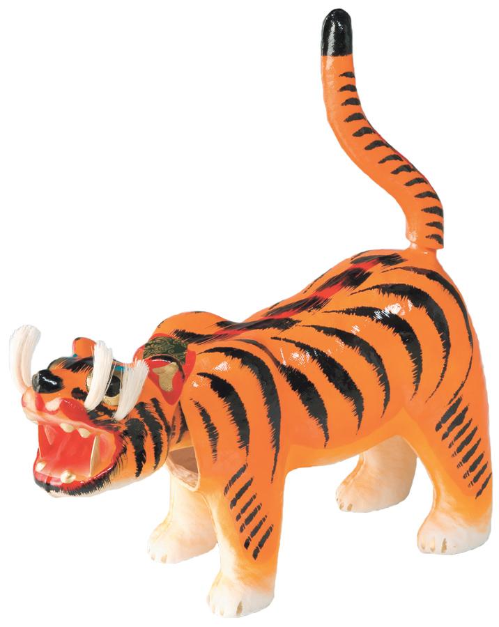 一年中飾れます! 張子の虎 12号サイズ 日本製 〈張り子の虎 張子のトラ 張り子のトラ はりこのとら 動物の置物 トラのお飾り 和のインテリアに 国内・海外へのお土産、贈答品に プレゼント お祝品 お祝い品 お祝いのお品 五月人形脇飾り 通販〉