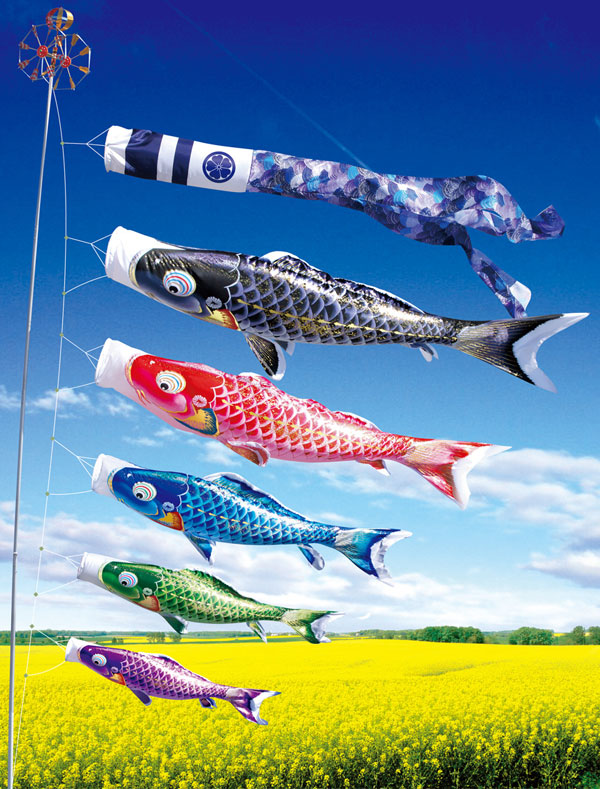 送料無料 徳永鯉のぼり作 よろこびの鯉 千寿 6m6点セットこいのぼり