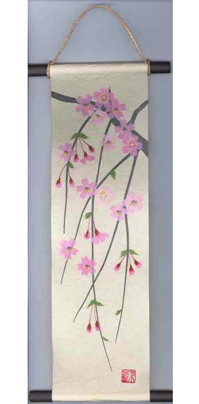 Please Come To A Tokonoma   I Tear Off Anese Style Made In Paper Product An And Put It Hanging Scroll Kakejiku Cherry