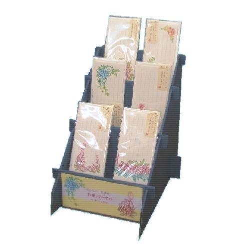 レターセット 花しらべ 切り絵 6種各10枚 小粋BOX・陳列ボックスセット POP付き