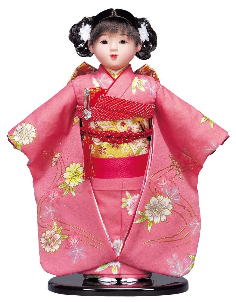 送料無料 平安豊久作 市松人形 13号 金彩 〈平安豊久 いちまつにんぎょう いちまさん 日本人形 和人形 和服衣装着人形 伝統人形 衣裳着人形 衣装着人形 着物人形 女の子のお人形 おにんぎょう 伝統工芸品 通販〉
