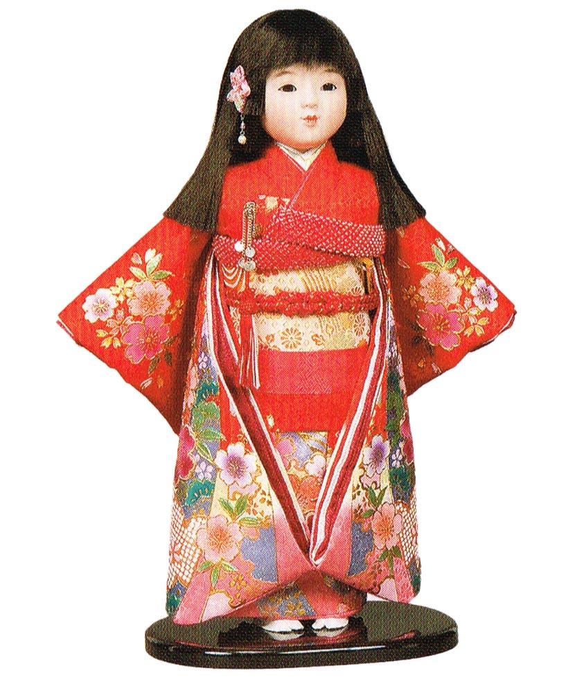 送料無料 平安豊久作 市松人形 13号 金彩 赤 〈平安豊久 いちまつにんぎょう いちまさん 日本人形 和人形 和服衣装着人形 伝統人形 衣裳着人形 衣装着人形 着物人形 女の子のお人形 おにんぎょう 伝統工芸品 通販〉