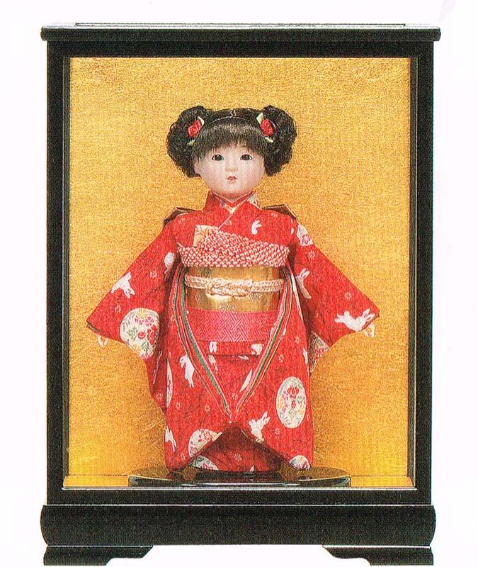平安豊久作 市松人形 8号 京友禅 ケース付き 〈平安豊久 いちまつにんぎょう いちまさん 日本人形 和人形 和服衣装着人形 伝統人形 衣裳着人形 衣装着人形 着物人形 女の子のお人形 おにんぎょう ケース入り 伝統工芸品 通販〉
