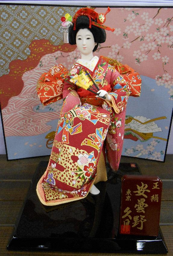 久月作 日本人形(尾山人形)6号 正絹 【安曇野】 Japanese doll 〈日本の伝統品 にほんにんぎょう 和人形 お人形 和の置物・お飾り・インテリア 久月人形 尾山人形 日本のおみやげ〉 ※お屏風は商品についておりません。