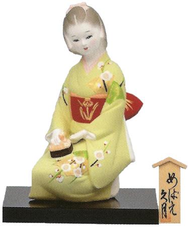 久月作 博多人形 めばえ 〈日本人形 和人形 はかたにんぎょう 和のインテリア・置物 日本の伝統品 海外・外国への贈り物・プレゼントにもおススメです! 通販〉
