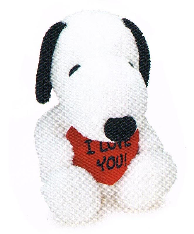 ぬいぐるみ I LOVE YOU! SNOOPY L スヌーピーのぬいぐるみ 〈縫い包み 縫いぐるみ ヌイグルミ オモチャ おもちゃ 玩具 スヌーピー SNOOPY 通販〉