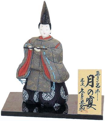 久月監製 真多呂作 日本人形(木目込人形) 【月の宴】 Japanese doll 〈日本の伝統品 にほんにんぎょう 木目込み人形 和人形 お人形 和の置物・お飾り・インテリア 日本のおみやげ 海外・外国へのお土産・プレゼントにもおススメです! 久月人形通販〉