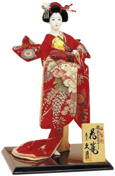 久月作 日本人形(尾山人形) 板呑なおみデザイン 古布調 【花篭】 Japanese doll 〈日本の伝統品 にほんにんぎょう 和人形 お人形 和の置物・お飾り・インテリア 日本のおみやげ 海外・外国へのお土産・プレゼントにもおススメです! 通販〉