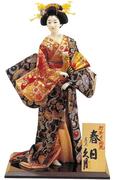 久月作 日本人形(尾山人形) 12号 片袖脱 【春日】 打掛 Japanese doll 〈日本の伝統品 にほんにんぎょう 和人形 お人形 和の置物・お飾り・インテリア 日本のおみやげ 海外・外国へのお土産・プレゼントにもおススメです! 通販〉