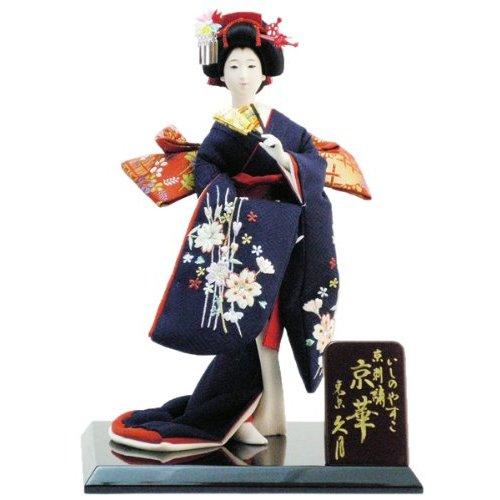 久月作 日本人形 正絹・いしのやすこ京刺繍 六号 尾山人形 【京華】 〈Japanese doll 日本文化 伝統品 和のインテリア 和人形 おにんぎょう 外国・海外へのお土産・贈り物・プレゼント・ギフトにもおススメです!〉