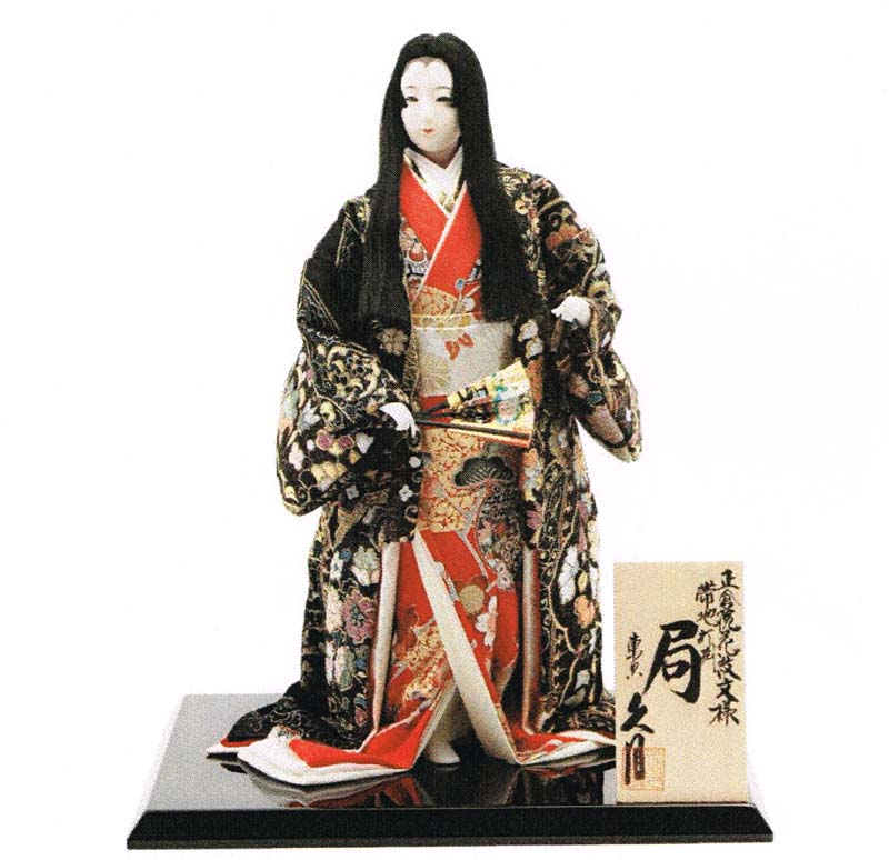 久月作 日本人形(尾山人形) 正倉院花紋文様 打掛帯地 10号 【局】 Japanese doll 〈日本の伝統品 にほんにんぎょう 和人形 お人形 和の置物・お飾り・インテリア 日本のおみやげ 海外・外国へのお土産・プレゼントにもおススメです! 通販〉