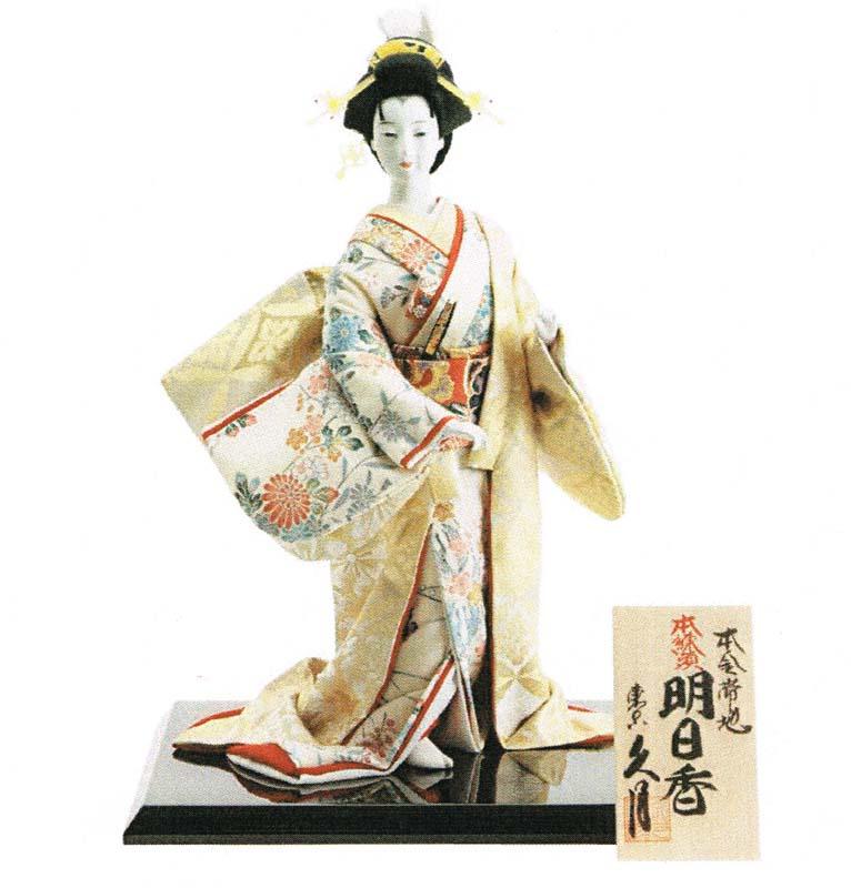 久月作 日本人形(尾山人形) 本金帯地 本練頭 8号 【明日香】 Japanese doll 〈日本の伝統品 にほんにんぎょう 和人形 お人形 和の置物・お飾り・インテリア 日本のおみやげ 海外・外国へのお土産・プレゼントにもおススメです! 通販〉