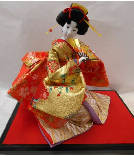久月作 日本人形(尾山人形) 10号 座り 【舞】 Japanese doll 〈日本の伝統品 にほんにんぎょう 座り人形 和人形 伝統人形 お人形 和の置物・お飾り インテリア 日本文化 伝統工芸品 日本のおみやげ 海外・外国へのお土産・プレゼントにもおススメです〉