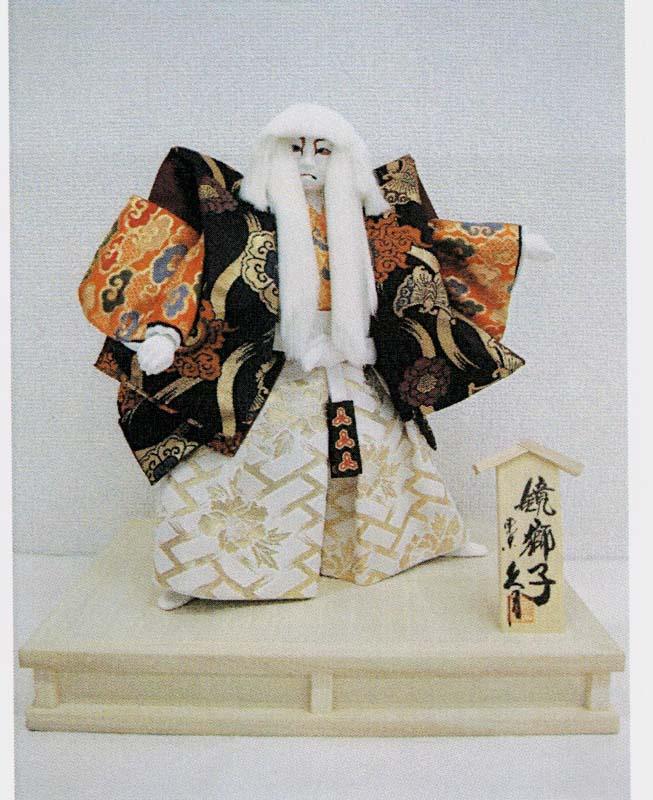 久月作 日本人形 7号鏡獅子 かがみじし Japanese Noh doll 〈日本の伝統品 伝統人形 鏡獅子人形 歌舞伎人形 かがみじし人形 東京浅草橋久月 ネット通販〉