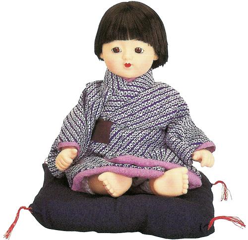 久月作 日本人形(三ツ折人形) 【京おさな】 Japanese doll 〈にほんにんぎょう 日本の伝統品 お人形 和のインテリア・お飾り お土産・プレゼントにもおススメです! 通販〉