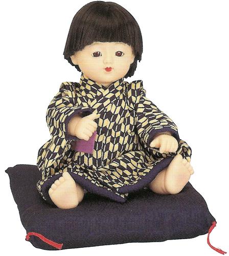 久月作 日本人形(三ツ折人形) 【京おさな】 Japanese doll 〈にほんにんぎょう 日本の伝統品 和のインテリア・お飾り お土産・プレゼントにもおススメです! 通販〉