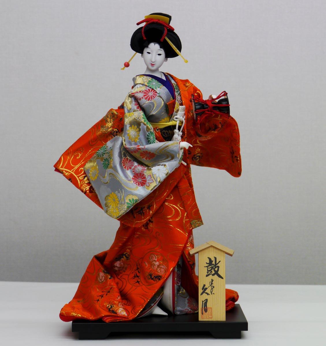 久月作 日本人形(尾山人形) 10号 【打掛】 Japanese doll 〈日本の伝統品 にほんにんぎょう 和人形 お人形 和の置物・お飾り・インテリア 日本のおみやげ 海外・外国へのお土産・プレゼントにもおススメです! 通販〉
