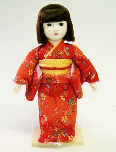 思い出の生地で自分だけのオリジナル日本人形が作れる! 型紙付き 着付け日本人形 夢さくら 赤 Japanese doll 〈日本の伝統品 和人形 にほんにんぎょう 海外・外国へのお土産・プレゼント、出産祝いや結婚祝い、開店祝い、記念品にも〉
