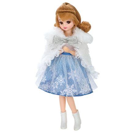 玩具 楽しく遊べるおもちゃ・着せ替え人形 リカちゃん人形 きせかえドレス LW-19 ふわふわスノーケープ ※人形は別売です 〈大人・子供向けおもちゃ 女の子向け コレクション ファッションドール 香山リカ Licca-chan 洋服 衣装 着替〉