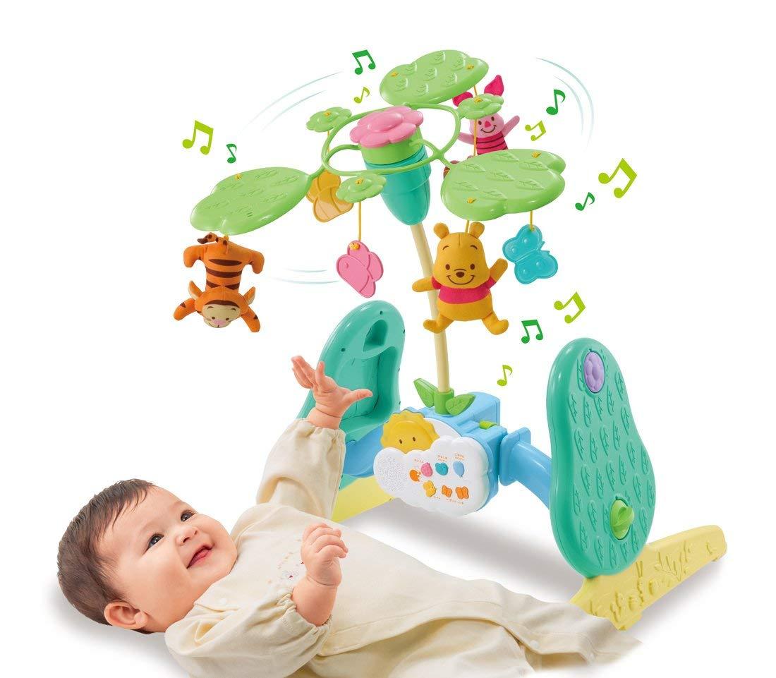 玩具 楽しく遊べるおもちゃ・ベビー向けおもちゃ ディズニーベビートイ くまのプーさん えらべる回転 6WAYジムにへんしんメリー 〈子供用 幼児用 赤ちゃん用 あかちゃん 乳児 ベビーグッズ クマのプーさん ベッドメリー フロアメリー 知育玩具〉
