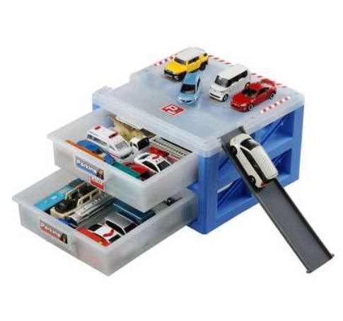 Fun Toys And Toy Car Collection Model Train Tomica Parking Case 24 * Tomica  (model ...