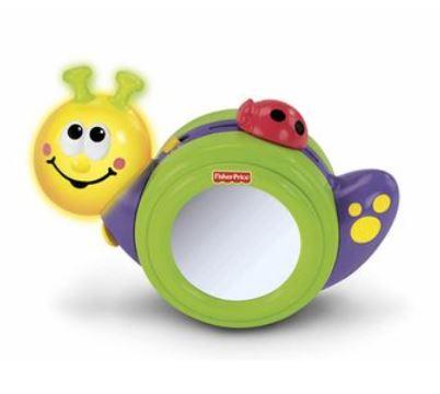玩具 楽しく遊べるおもちゃ・ベビー向けおもちゃ フィッシャープライス 3WAYでんでんむし 車輪止め機能付き 〈子供用玩具 こどものおもちゃ 乳児・幼児 オモチャ 赤ちゃん用 おきあがりこぼし おいかけっこ ミラー かがみ〉