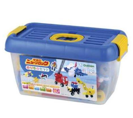 玩具 楽しく遊べるおもちゃ・ゲーム 働く乗り物を作ろう! ニューブロック のりものセット 飛行機、トラック頭部のパーツ入り 〈子供用玩具 子ども こどものおもちゃ 幼児 オモチャ キャラクター 頭の体操 組立て遊び ブロック遊び 知育玩具〉