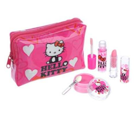 Cute Cosmetics To Toys Fun Toys Kids Consume Fashionable Pouch Or Bag Full 140804 Hello Kitty Pticosme Kit 001 Q Children Children Children S Toys