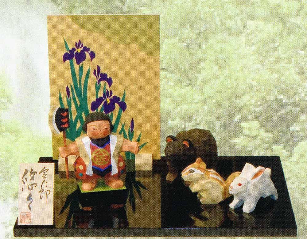 南雲作 五月人形 伊予一刀彫り 【金太郎 悠々】 〈五月人形 5月人形出し飾り きんたろう 坂田金時 お節句飾り 端午の節句 初節句祝い 子供の日 五月五日 5月5日記念日 お節句通販〉
