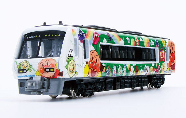 Comes with a bonus toy train collection miniature train hobby of model  trains anpanman train green puppet and ticket DK-7123 q train model vehicle