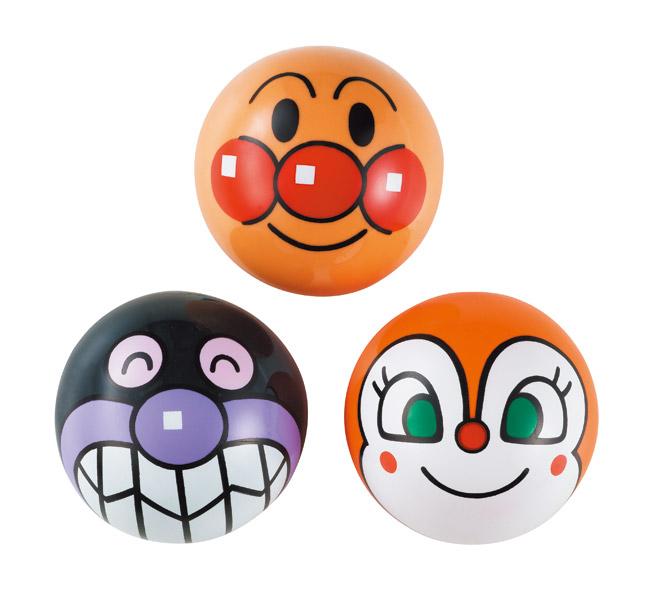 アンパンマンと楽しく遊ぼう♪  プレゼント・ギフト・贈り物・贈答品にもおススメです。  玩具 おもちゃ それいけ!アンパンマン アンパンマン・ばいきんまん・ドキンちゃんのビニールボール3点セット カラーボール3点セット 3号サイズ 〈小さいボール 3号ボール 子供用柔らかいボール ボール 遊び バイキンマン スポーツ ビニールボール〉