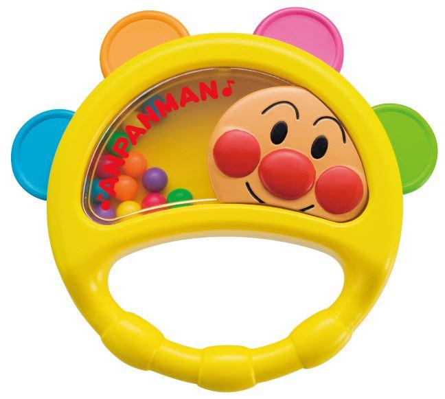 宝宝玩具婴儿玩具乐器 anpanman しゃらしゃら 宝宝手鼓 q 婴儿宝宝蹒跚学步儿童儿童婴儿必需品宝宝玩具太泛 Bimbo Anpanman たんばりん 学期沥青的玩具玩具节奏玩具教育玩具乐器吗?