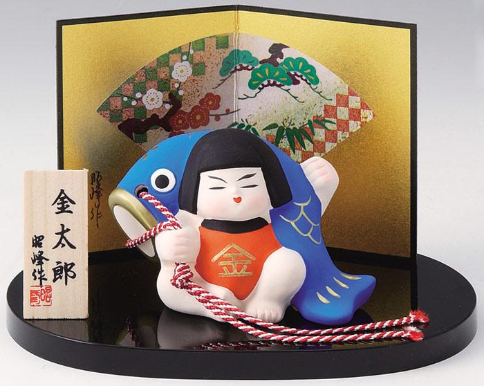 粘贴钦太郎托盘,屏风、 臭名远扬的树圆托盘飘带是陶瓷武士俑和娃娃。  [玩偶娃娃可能鲤鱼流光 Dano 节日儿童一天 5/5 日本室内礼物礼品商店吗?